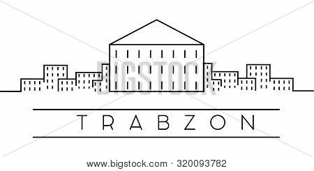 Trabzon City Outline Icon. Elements Of Turkey Cities Illustration Icons. Signs, Symbols Can Be Used