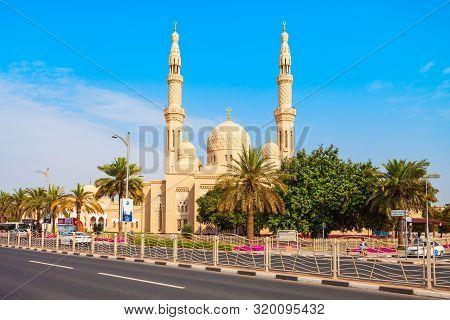 Dubai, Uae - February 27, 2019: Jumeirah Mosque Is A Main Mosque In Dubai City In Uae