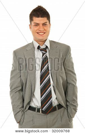 Laughing Young Business Man