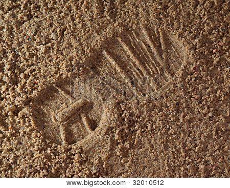 启动打印在沙子中