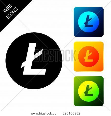 Cryptocurrency Coin Litecoin Ltc Icon Isolated. Physical Bit Coin. Digital Currency. Altcoin Symbol.