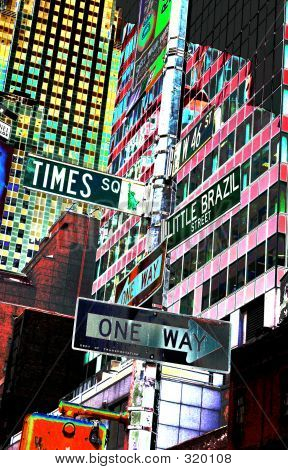 Times Square Street Signs