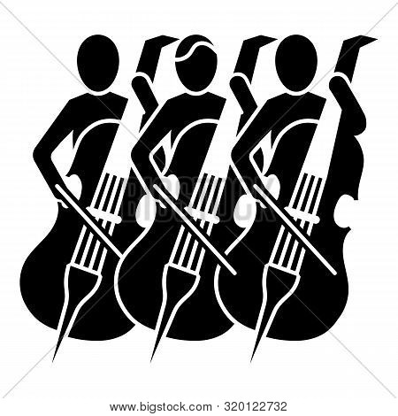Musician Orchestra Icon. Simple Illustration Of Musician Orchestra Vector Icon For Web Design Isolat