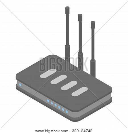 Firewall Router Icon. Isometric Of Firewall Router Vector Icon For Web Design Isolated On White Back