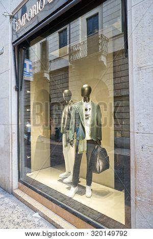 VERONA, ITALY - CIRCA MAY, 2019: display window of a shop in Verona.