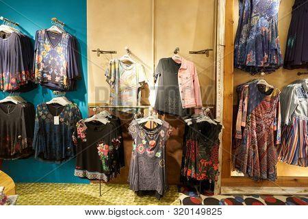VERONA, ITALY - CIRCA MAY, 2019: interior shot of a Desigual store in Verona. Desigual is a clothing brand headquartered in Barcelona, Catalonia.