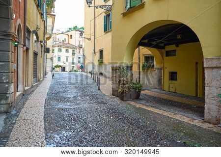 VERONA, ITALY - CIRCA MAY, 2019: a view of a street located in Verona, Italy.