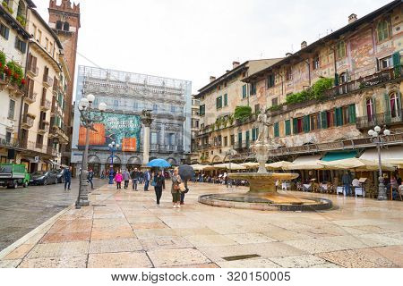 VERONA, ITALY - CIRCA MAY, 2019: Verona urban landscape in the daytime.