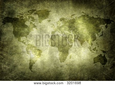 Old, Grunge World Map