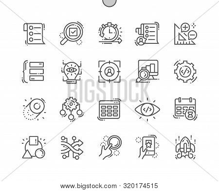 Agile Development Well-crafted Pixel Perfect Vector Thin Line Icons 30 2x Grid For Web Graphics And