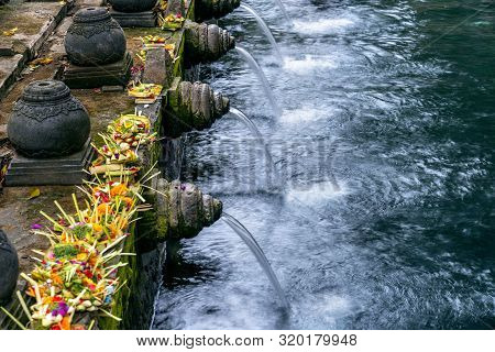 Holy Spring Water Temple, Tirta Empul Temple In Bali, Indonesia.