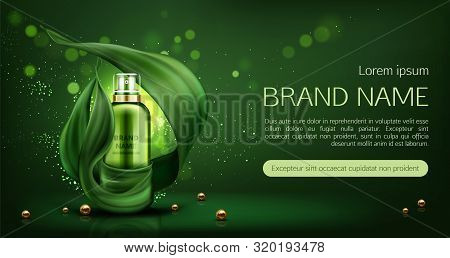 Cosmetics Tube Mock Up Ad Banner, Organic Beauty Product, Lotion, Natural Skin Care Sprayer Bottle M