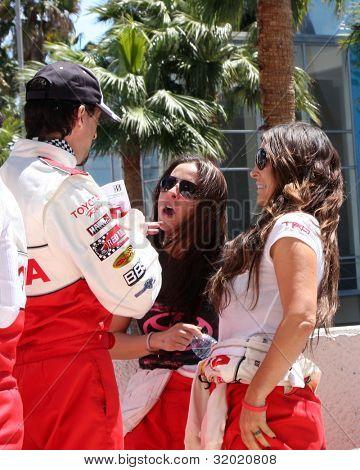 LOS ANGELES - APR 14:  Adrien Brody, Kate del Castillo, Jillian Reynolds at the 2012 Toyota Pro/Celeb Race at Long Beach Grand Prix on April 14, 2012 in Long Beach, CA.