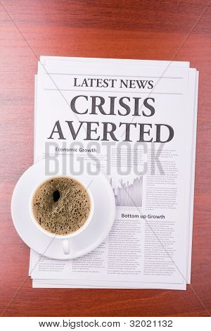 The Newspaper Crisis Averted  And Coffee
