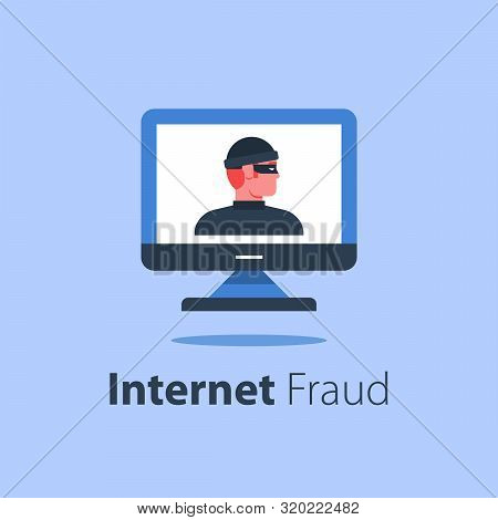 Cyber Crime, Computer Monitor, Online Security, Safe Internet Access, Antivirus Software