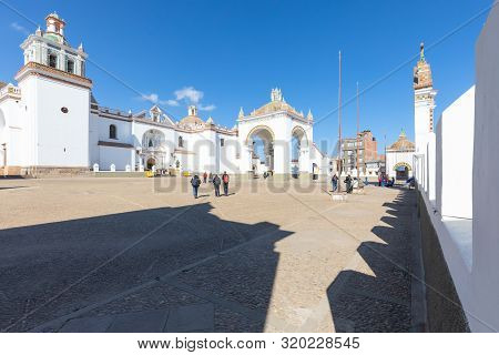 Copacabana Bolivia, 19 August Candelaria Basilica Built In 1560 Is The Pride Of The Inhabitants Of C