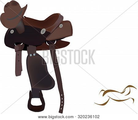 Riding Horse Saddle With Hat Riding Horse Saddle With Hat
