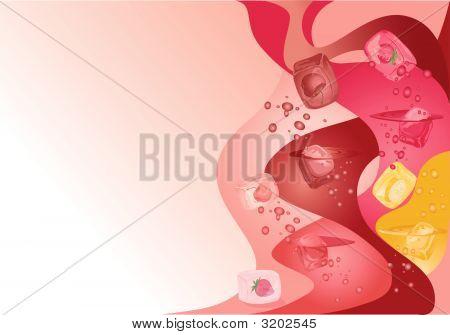 Cocktail Eis-Hintergrund