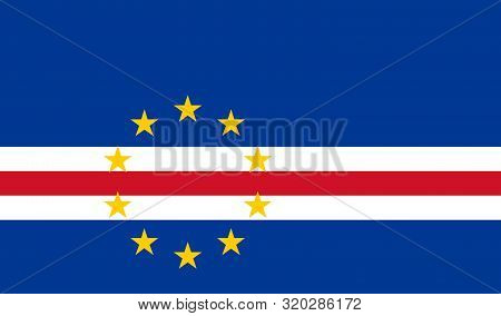 Flag Of Cape Verde Vector Illustration, Worlds Flags Collection