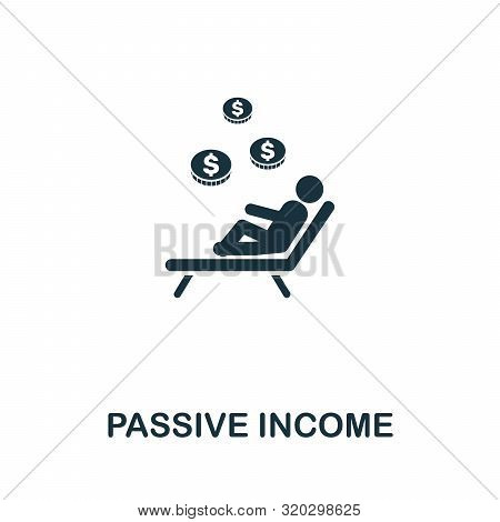 Passive Income Vector Icon Symbol. Creative Sign From Passive Income Icons Collection. Filled Flat P