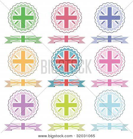 Uk Emblems And Ribbons