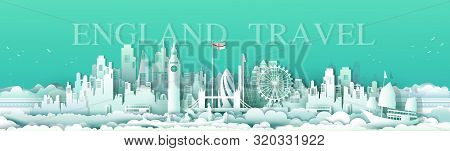 Vector Illustration Travel London England Famous Landmarks Europe Downtown Country Of Island,tour Ci