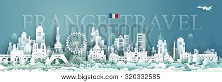France Architecture Travel With Sailboat And Gondola, Landmarks Of Paris In French Country, Tour Cit
