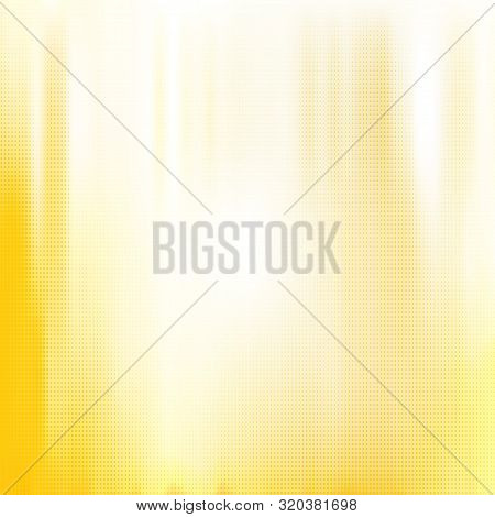 Yellow White Halftone Blurred Background. Vector Modern Background For Posters, Brochures, Sites, We
