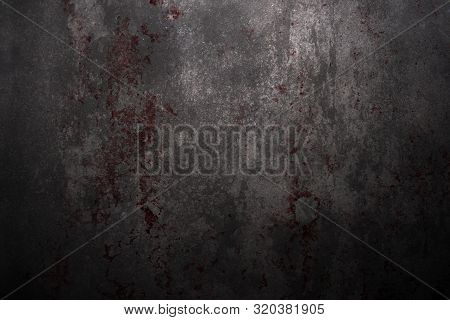 Red Blood On The Wall, Halloween Background