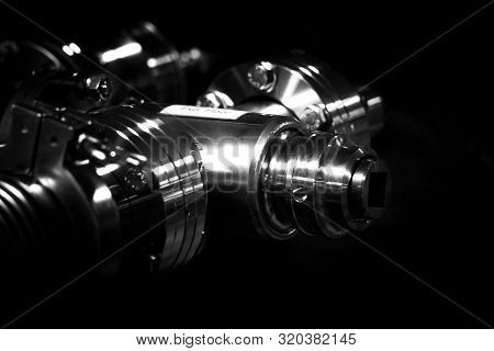 The Vacuum Tube System Against A Dark Background