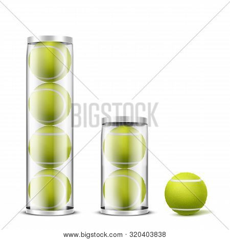 New, Felt Tennis Balls In Different Amount, Transparent Plastic Cans, Containers With Metallic Lid 3