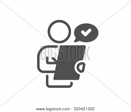 Contract Application Sign. Customer Survey Icon. Agreement Document Symbol. Classic Flat Style. Simp