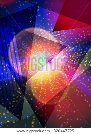 Modern Abstract Pattern Vector Background Or Wallpaper On The Background Of Colored Triangles. Trian