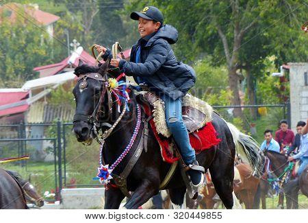 Azuay Province, Ecuador - September 1, 2019: Fiesta De San Agustín In Punta Corral Community. Local