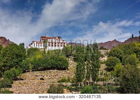 Likir gompa (Tibetan Buddhist monastery in Himalayas. Ladakh, India