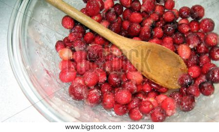 Cranberries About To Be Cooked