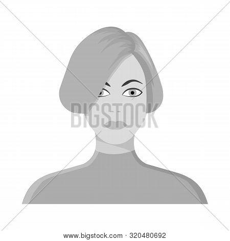 Vector Illustration Of Girl And Hairdo Logo. Collection Of Girl And Woman Stock Vector Illustration.