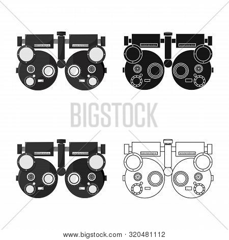 Isolated Object Of Gadget And Optometrist Symbol. Collection Of Gadget And Check Stock Vector Illust