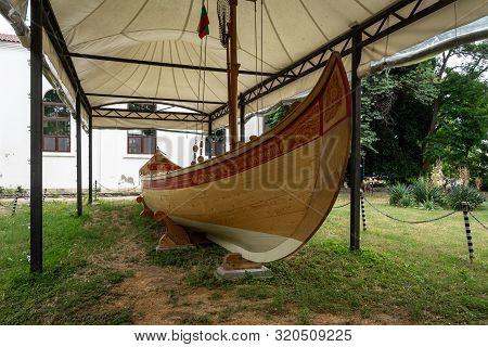 Sozopol, Bulgaria - June 28, 2019: Apollonia - Fishing Boat (replica) Built From Strandja Oak With A