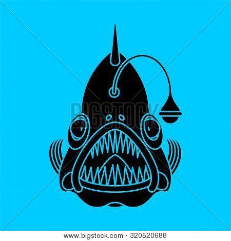 Deep Sea Fish Icon. Angler Sign. Vector Illustration