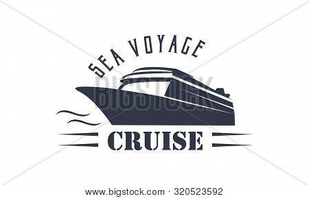 Sailing, Cruise, Ship, Sailing Boat Logo Vector