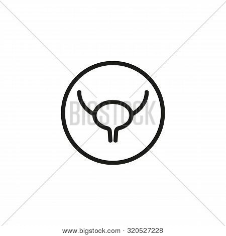 Human Bladder Line Icon. Medicine, Body, Nature. Human Organs Concept. Vector Illustration Can Be Us