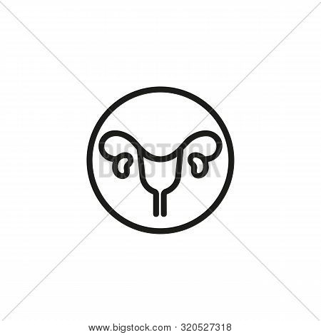 Human Uterus Line Icon. Medicine, Body, Nature. Human Organs Concept. Vector Illustration Can Be Use