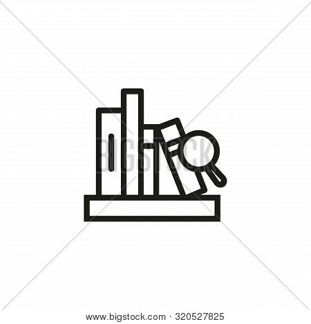 Web Library Line Icon. Literature, Cloud, Net. Online Library Concept. Vector Illustration Can Be Us