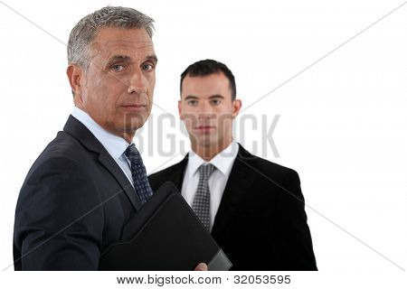 Businessmen with briefcase poster
