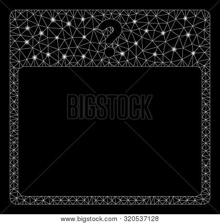 Glossy Mesh Unknown Day Calendar Page With Glow Effect. Abstract Illuminated Model Of Unknown Day Ca