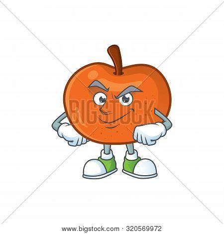 Smirking Tangerine Sweet In The Cartoon Shape