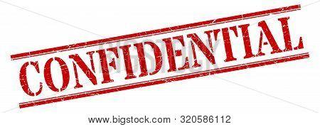 Confidential Stamp. Confidential Square Grunge Sign. Confidential