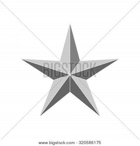 3d 5 Point Beveled Star. Vector Illustration . Template For Your Design