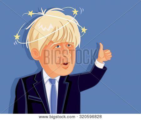 London, Uk, September 5, Boris Johnson Vector Caricature